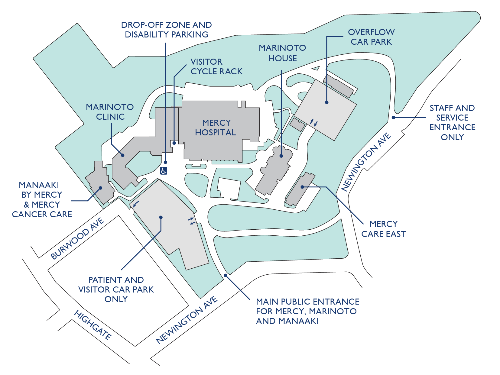 Mercy Hospital Campus Map